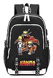 Cosstars Naruto Anime Backpack Sac à Dos Ordinateur Portable avec Port de Chargement...