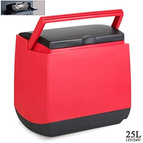 Bingx Kühlbox 12V / 24V LKW Camping Kühlschrank (25L) Autokühlschrank Tragbarer Kühlschrank Langstreckenfahrten und Camping 35w, Dual-core