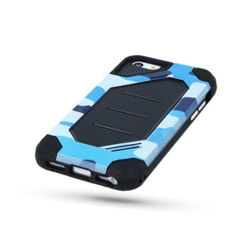 "PANZER DEFENDER Moro Camouflage Für Apple iPhone 6 Plus 5.5"" iPhone 6 5.5"" Schutzhülle Armee Militär / Army Case Etui Cover Hülle Flip (grün / green) blau / blue"