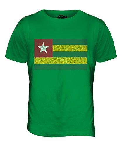 CandyMix Togo Bandiera Scarabocchio T-Shirt da Uomo Maglietta Verde