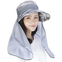 Sombrero Legionario para mujer. Para uso al aire libre: camping, pesca, ciclismo, protección solar, con protector de cuello largo desmontable. UPF 50 + anti UV. Para usar en: verano, viajes