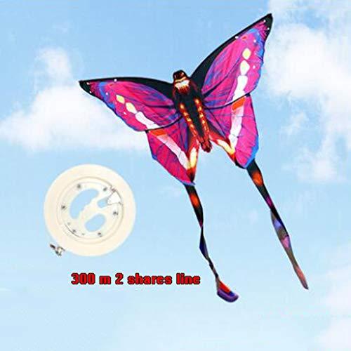 TD Drachen B8770 Schmetterling Kind Erwachsener Brise Familie Unterhaltung Yi Fei Gute Fliege 300 Meter Linie (Farbe : Rosa)