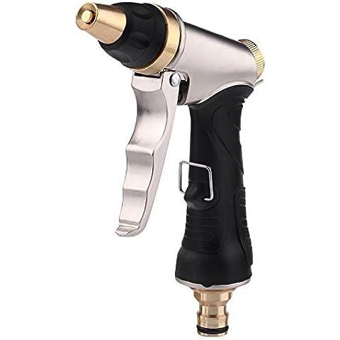 Louis giardino in metallo ugello spray, tubo da giardino con pistola per lavaggio auto, Ugello per tubo flessibile in metallo 100% )