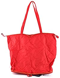 Moncler Mujer MCBI212042O Rojo Cuero Bolso Tipo Shopper