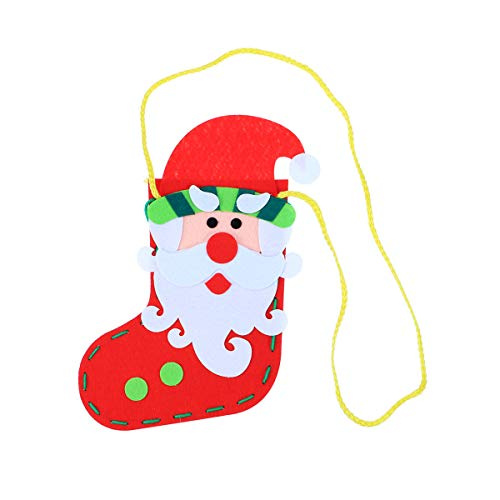 de Christmas Stockings Decorations Socks Gift Bags Non-Woven Crafts Pendant Kids Toys (Santa Claus) ()