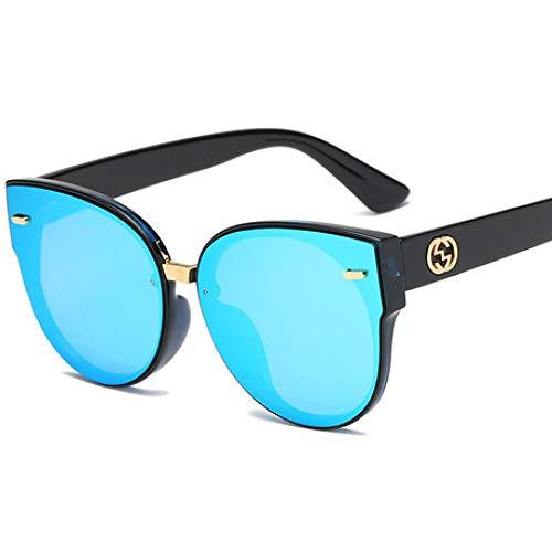 Hjyi Retro-Runde Katzenauge Sonnenbrillen für Damen Polarisierte Aluminiumlegierung Rahmen Sonnenbrille Mode Fahren Sonnenbrillen UV400 Gläser