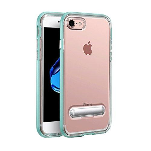 Für iPhone 7 TPU + PC transparente Kombination Rückseitige Abdeckungs-Fall mit magnetischem Wölbungs-Halter by diebelleu ( Color : Gold ) Green