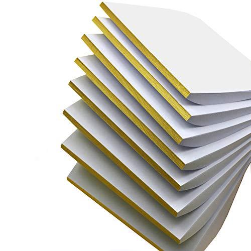 Bloc de notas de color blanco, bloc de notas, almohadillas para arañazos, bloc de notas, 8 paquetes con 50 hojas por bloc 18x13cm