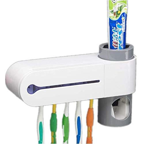 Elektrische Zahnbürste Sanitizer (HuntGold Zahnbürstenhalter Elektrische Zahnbürste Sanitizer Wandhalterung Automatische Zahnpastaspender Badezimmer Regale mit Zahnbürstenhalter)