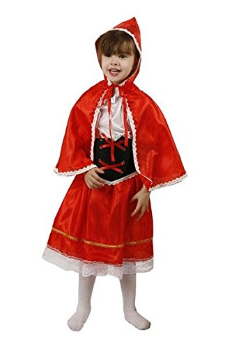 DISBACANAL Disfraz Caperucita roja Barato - Único, 5-6 años