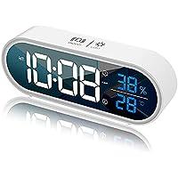 Réveil numérique à LED avec Fonction Snooze, réveil Intelligent à Activation vocale, Alarme à Double Mode avec Affichage…