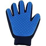 ROUCH Pet Hair Remover Glove - Gentle Pet Grooming Glove Brush - Deshedding Glove - Massage Mitt with Enhanced Five Finger De