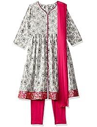 Karigari by Unlimited Girls' A-Line Regular Fit Salwar Suit Set (400017784618)