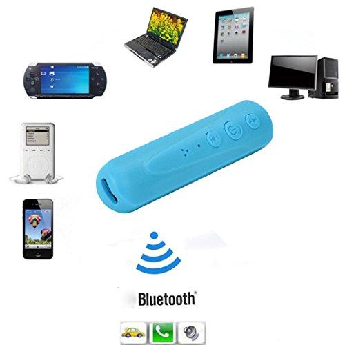 Colorful_Wireless Bluetooth Adapter Receiver, Wireless Bluetooth 4.1 Empfänger 3,5 mm Klinke Audio Musik Empfänger Adapter Car Aux Kabel (Himmelblau) Car-adapter-kabel