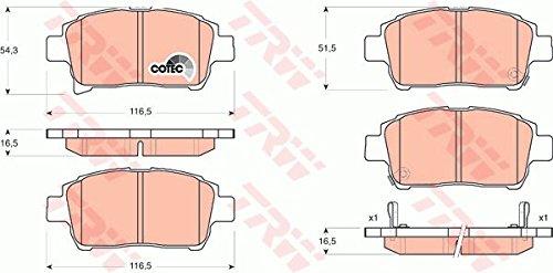 Preisvergleich Produktbild TRW GDB3317 Bremsbelagsatz,  Scheibenbremse