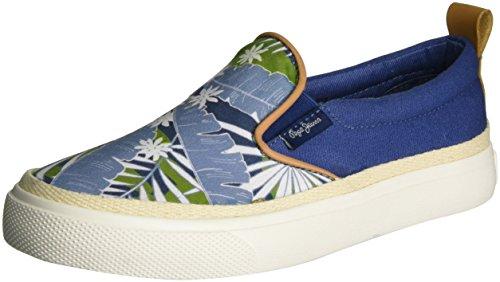 Pepe Jeans Traveler Indigo, Sneakers Basses Garçon, Bleu