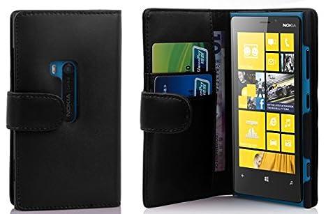 Cadorabo - Book Style Hülle für Nokia Lumia 920 - Case Cover Schutzhülle Etui Tasche mit Kartenfach in