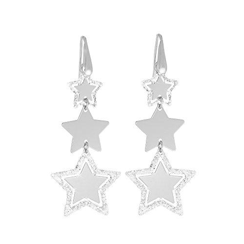 Stroili - Orecchini stelle in ottone rodiato per Donna - Petite