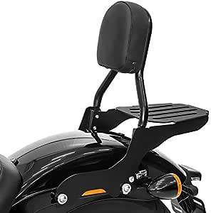 Sissy Bar Cl Mit Gepäckträger Für Harley Davidson Softail Slim 18 20 Schwarz Auto