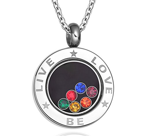 Omos Herren Gay Schmuck Pride Rund Diamant Perlen Kette Rainbow Farbe Edelstahl Halskette Als Weihnachtengeschenk