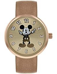 Mickey Mouse Reloj Analógico para Mujer de Cuarzo con Correa en Cuero MK1419