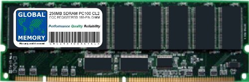GLOBAL MEMORY 256 MB PC100 100 MHz 168-PIN SDRAM ECC Registered DIMM (RDIMM) Arbeitsspeicher für Servers/WORKSTATIONS/MAINBOARDS -