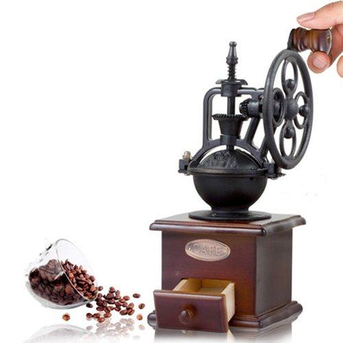 Cosy YCY Holz Manuelle Kaffeemühle Kaffee Bean Spice Vintage Stil Kaffeemühle Schublade und Keramik Schleifen Core Kaffee Mühle Coffee Grinder Vintage Coffee Grinder