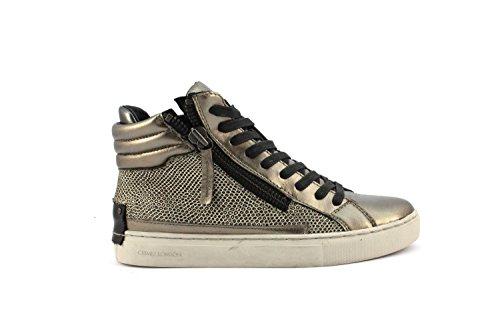 pretty nice 116f1 11cdb Crime London 25380A16B - Espadrilles Chaussures Pour Femmes à lacets Beige  Or
