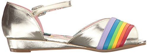 Iron Fist Over It Sandal, Semelle compensée femme Doré