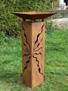 Gartendeko rost ule mit schale zum dekorieren 125 cm for Rost schale dekorieren