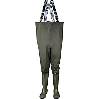 Asatex WH 44 Chest waders, Size 9.5, Olive
