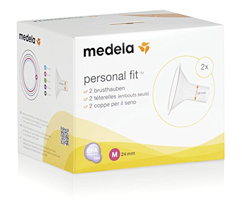 Medela - Embudo PersonalFit para sacaleches, 2 unidades blanco roto Talla:mediano