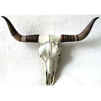 Amazon.de: Deko Longhorn-Rinderschädel Bulle Kuh Schädel