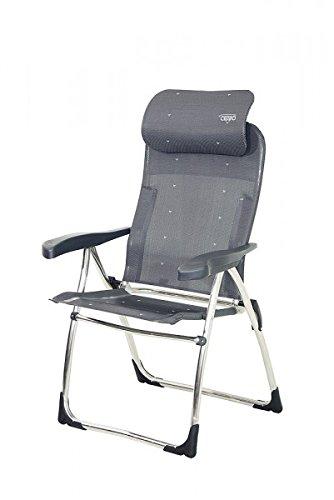 4,5 Kg sTABIELO sTABIELO aluminium chaise de camping 105 cm - 7 positions-sTABIELO exklusiv-- chaise-fauteuil en aluminium léger anthracite 4,5 kg-charge maximale : 125 kg-sunshade- holly disponible avec contre supplément thé holly fÄCHERSCHIRMEN-holly ® produits sTABIELO-innovation fabriqué en allemagne-holly sunshade contre supplément avec coussin la durée des stocks disponibles -