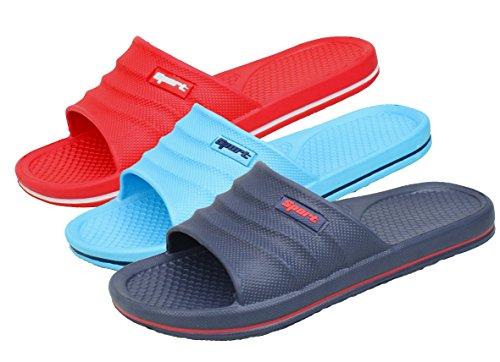 BOCKSTIEGEL® VERENA Mules de Plage | Femmes | Enfants | Unisexe | Tongs | Chaussures daqua | Pointures 36-41 Dk Blue / Red