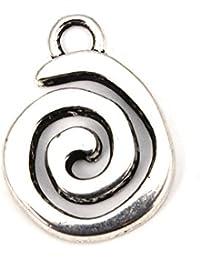 RUBY-Dijes de espiral charm etnico colgantes estilo tibetano