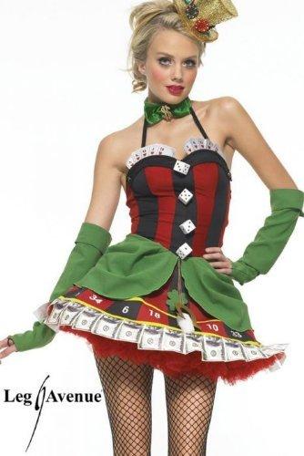 Leg Avenue Lady Luck Kostüm , 1 - Poker Girl Kostüm