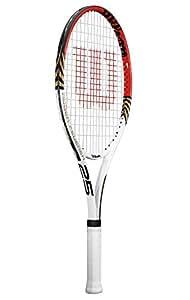 Wilson Roger Federer Titanium Tennis Racquet, Junior - 25 inch (Multicolor)