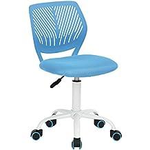 fanilife diseño ajustable para silla de oficina ordenador asiento giratorio de escritorio Task silla sin reposabrazos silla de estudio de los niños verde