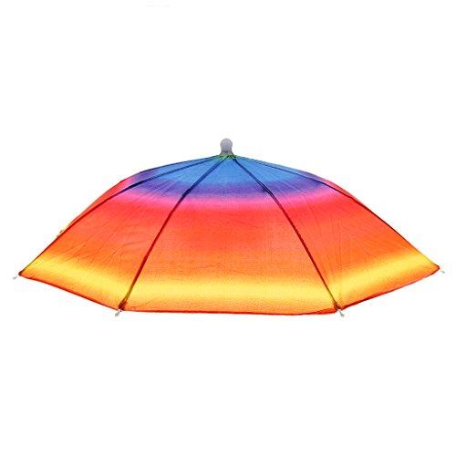 Sharplace Angeln Wandern Golf Strand Klappbare Kopfbedeckung Sonnenschirm Regenschirm Hut - (Hüte Regenbogen)