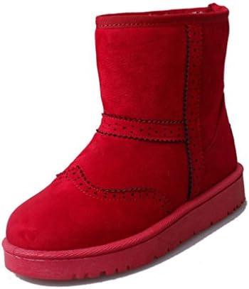 MEILI Scarpe da donna, stivali da donna, stivali, antiscivolo, antiscivolo, antiscivolo, stivali di cotone, stivali da neve, addensato, caldo, stivali da donna, scarpe basse, stivali, moda, casual, selvaggio , rosso , US5.5   EU35   UK3.5   CN35 B078BMVBV7 Parent   tender    Spec c0b302