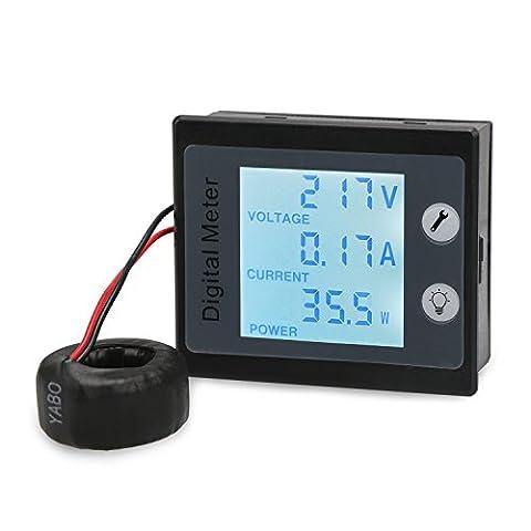 DROK® 80~260V 0~100A Wechselstrom-Digital-Multimeter, Digital-Multimeter mit STN Vollbild LCD-Anzeige, 360