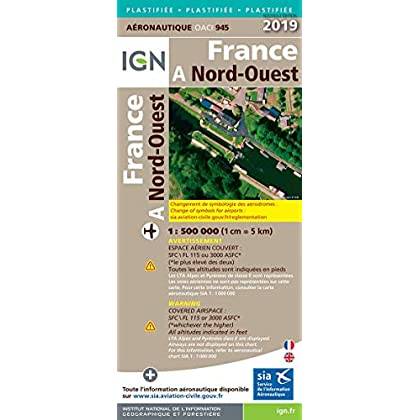 France Nord-Ouest pelliculée : 1/500 000