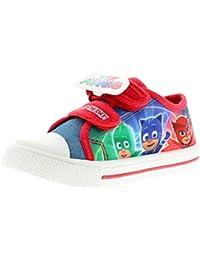 43b4101917 PJ MASKS Platanar Boys Kids Canvas Shoes Red - Red - UK Sizes 5-10