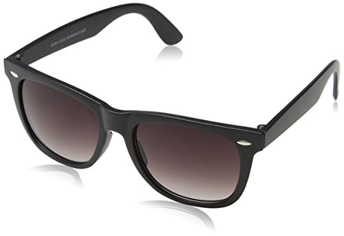 New Look Herren Wayfarers Sonnenbrille, Schwarz (Black), 51