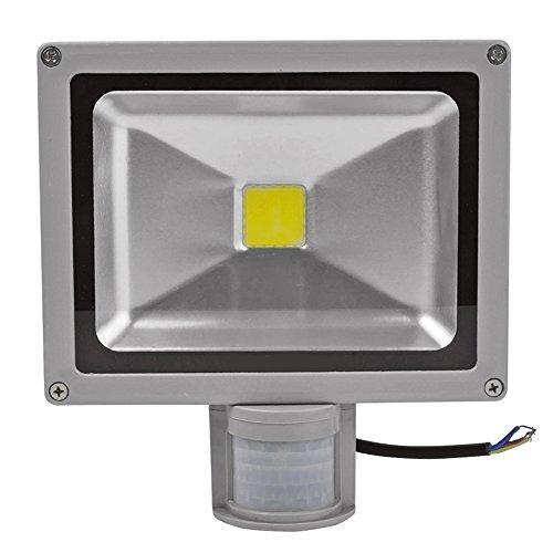 Preisvergleich Produktbild Außenstrahler 50W LED Flutlicht Strahler mit Bewegungsmelder Fluter Scheinwerfer Wandstrahler Aluminium IP65 Wasserdicht 6000K Kaltweiss