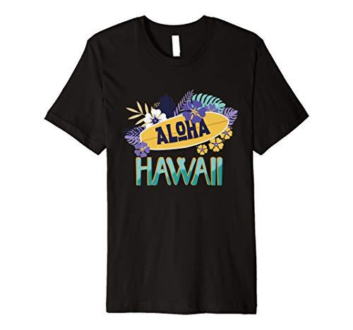 Artsy Hawaii Aloha State T-Shirt Summer Hawaiian Islands