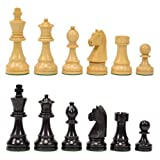 Classic Ebonized Wood Chess Pieces With ...