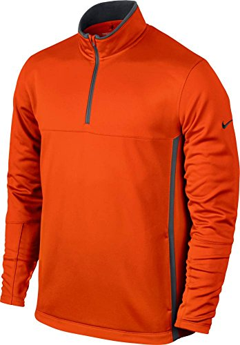 Nike Pullover Langarm 1/2 Zip Herren Black/wolf grey/black/wolf, Herren, Team Orange/Dark Grey (Jacke Golf Zip)