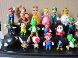 Vente au 1 jeu Super Mario Bros Yoshi Figure dinosaure 18PCS Super mario yoshi chiffres PVC